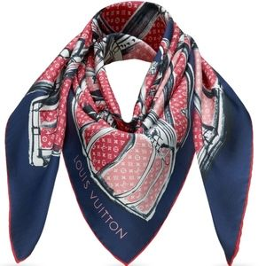 Louis Vuitton Trunks & Luggage Monogram Silk Scarf